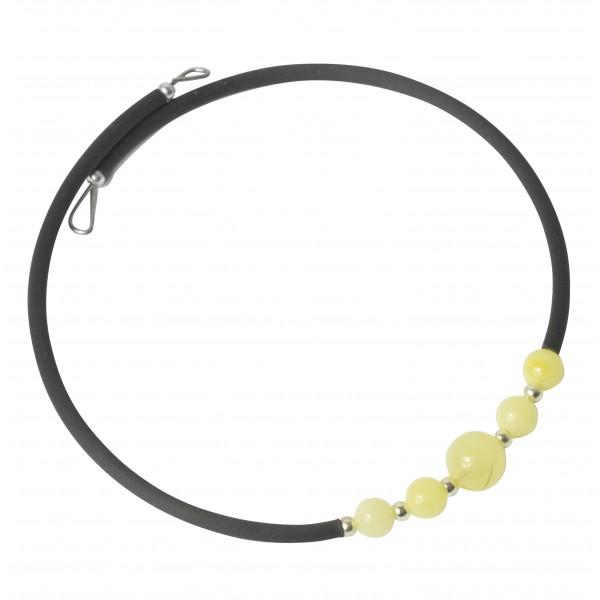 Bracelet Accordéon 1 tour en ambre blanc
