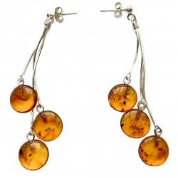 Earring with royal amber pearl