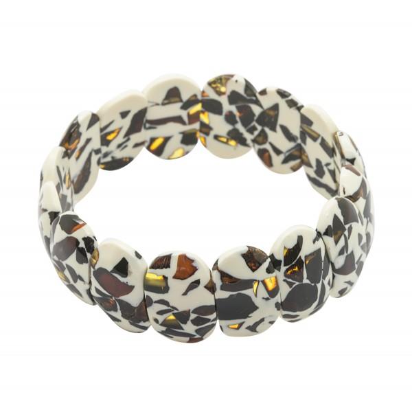 Bracelet en ambre mozaïque