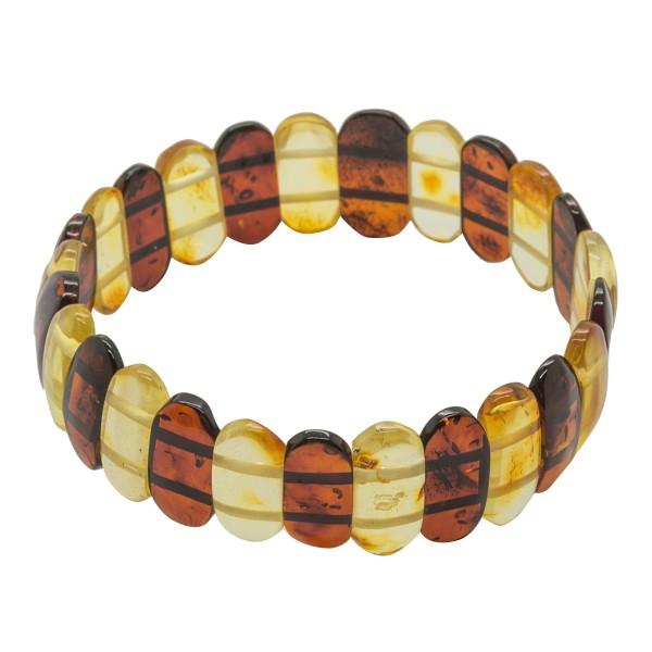 Bracelet d'ambre adulte miel et cognac