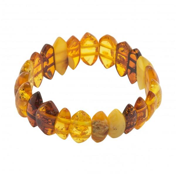Bracelet en ambre multicolore adulte