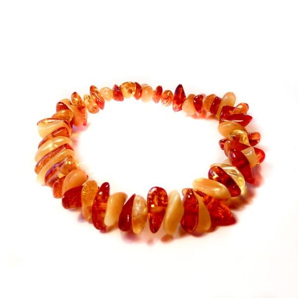 Bracelet en Ambre couleur miel et blanc
