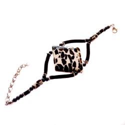 Bracelet d'ambre mozaïque forme losange