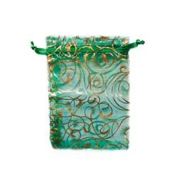 Organza Beutel grün Pflanzendekoration