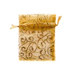 Organza Bolsa de decoración vegetal de oro