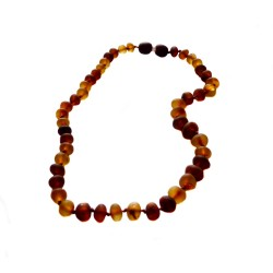 Raw cognac baby amber necklace