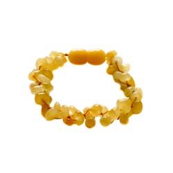 Bracelet d'ambre royal bébé 3 lignes