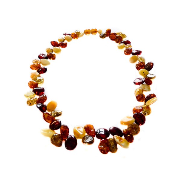 Collier d'ambre adulte multicolore