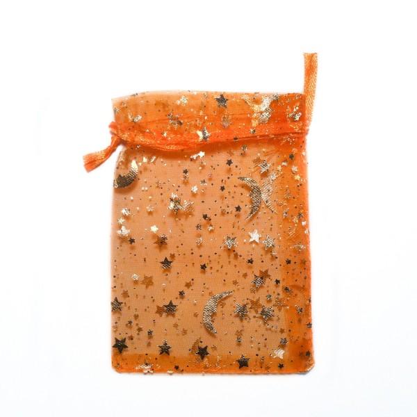 Sternenhimmel Le organza beutel orange sternenhimmel dekoration bijoux d ambre
