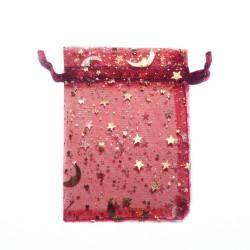 bolsa de organza burdeos cielo estrellado decoración