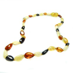 Necklace of amber baby multicolor pearl olive