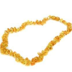 Collier ambre bébé couleur citron