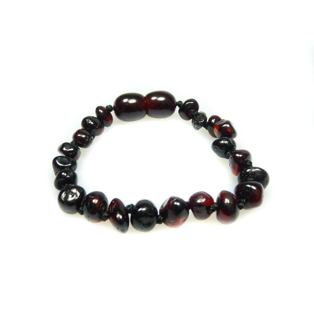 bracelet ambre b b perle ronde cerise bijoux d 39 ambre. Black Bedroom Furniture Sets. Home Design Ideas