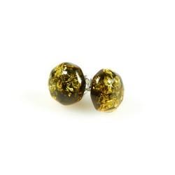 Ohrring Grün Gelb und Silber 925/1000