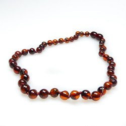 collar de ámbar del bebé gama alta de color perlas de cereza ronda adicional