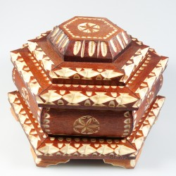 Artisanal Jewelry Box Carved Wood