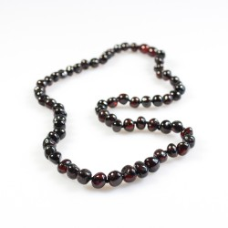 Amber necklace Adult pearl cherry