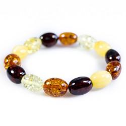 Bracelet d'ambre naturel multicolore