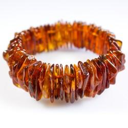 Amber bracelet cognac natural form