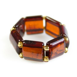 Ring all amber color cognac