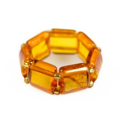 Bague tout ambre couleur miel