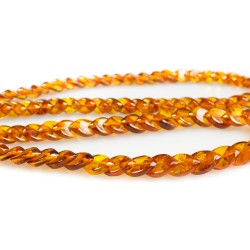 Honey amber adult stone necklace honey color