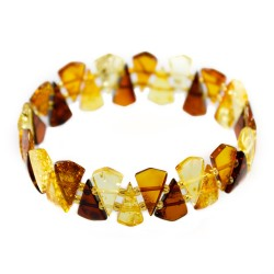 Bracelet extensible tout ambre multicolore
