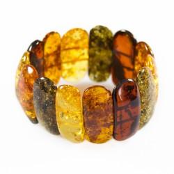 Gros bracelet en ambre naturel multicolore