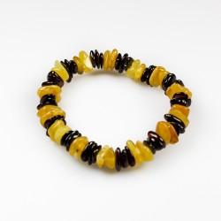 Bracelet ambre adulte multicolore