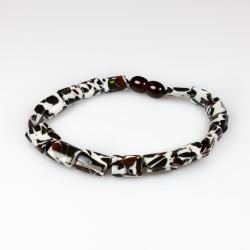 Adult Amber Mosaic Amber Cognac Bracelet