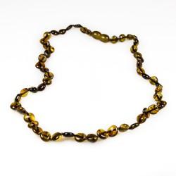 Erwachsene Halskette natürliche grüne Bernstein